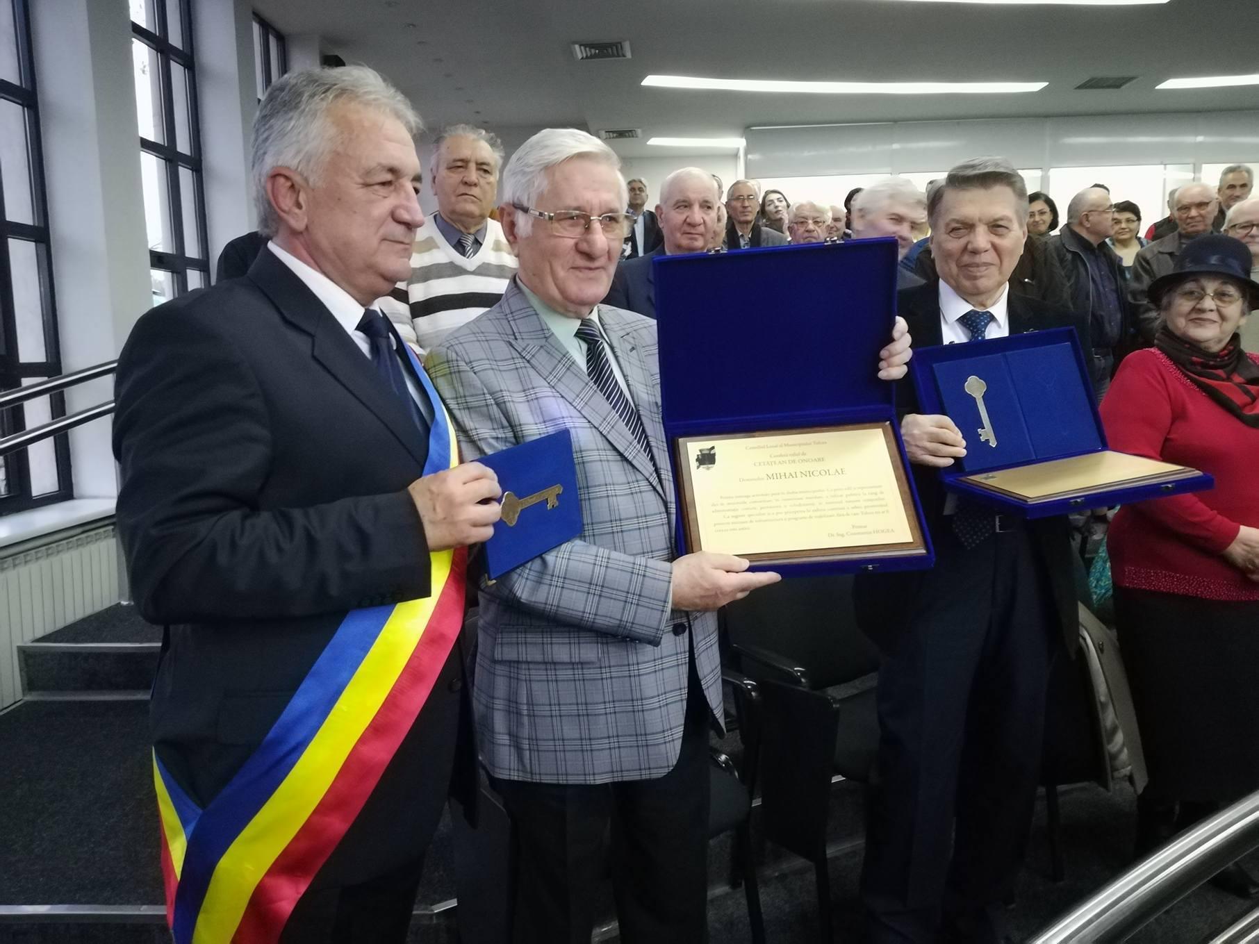 Nicolae Mihai şi Victor Iancu, cei mai noi cetăţeni de onoare ai municipiului