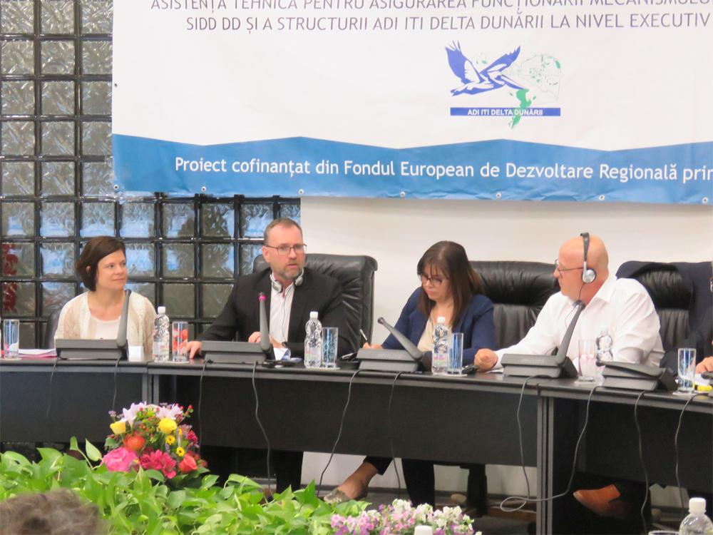 Forum de monitorizare pentru ITI Delta Dunării, cu reprezentanţi ai Comisiei Europene