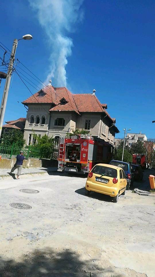 Fosta Trezorerie din municipiu, cuprinsă de flăcări
