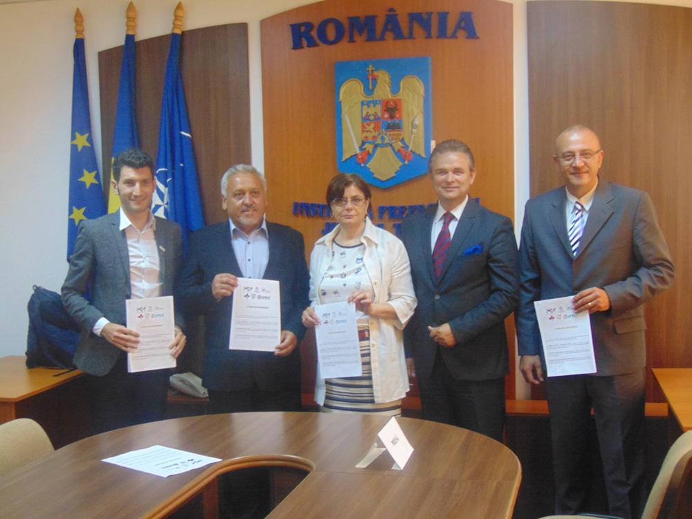 Acordul de parteneriat între organizaţiile patronale şi corpurile profesionale din judeţ, semnat la Tulcea