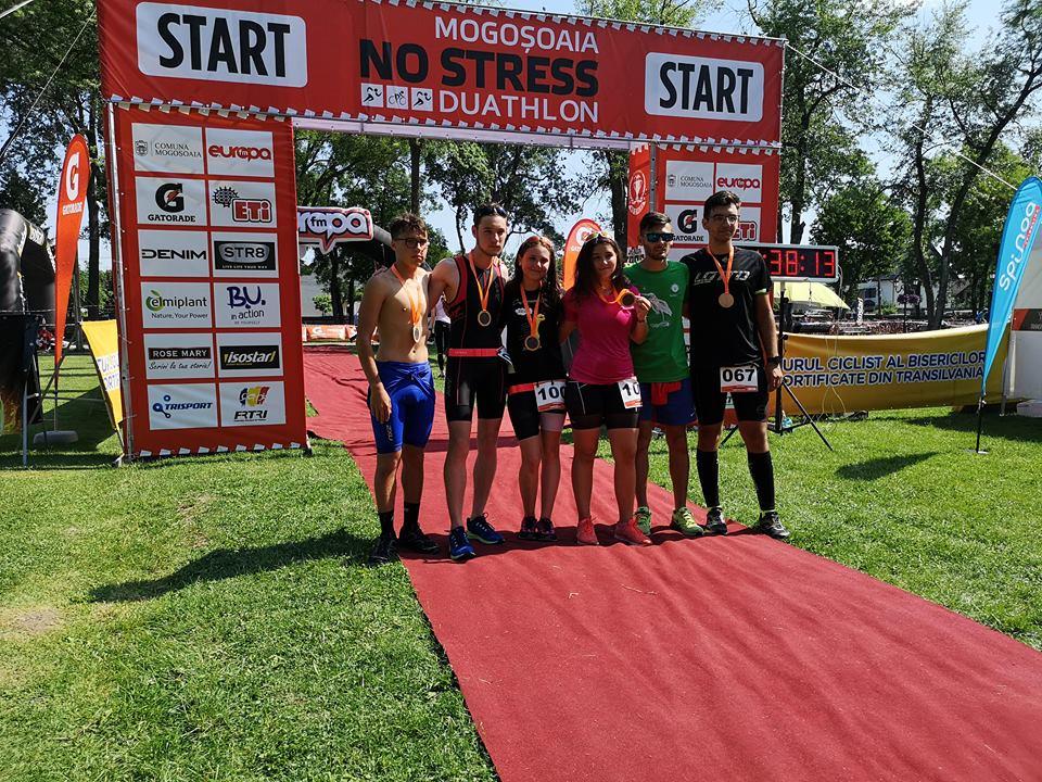 No Stress Duathlon: Aqua Vita Delta, 5 sportivi participanţi, 5 medaliaţi