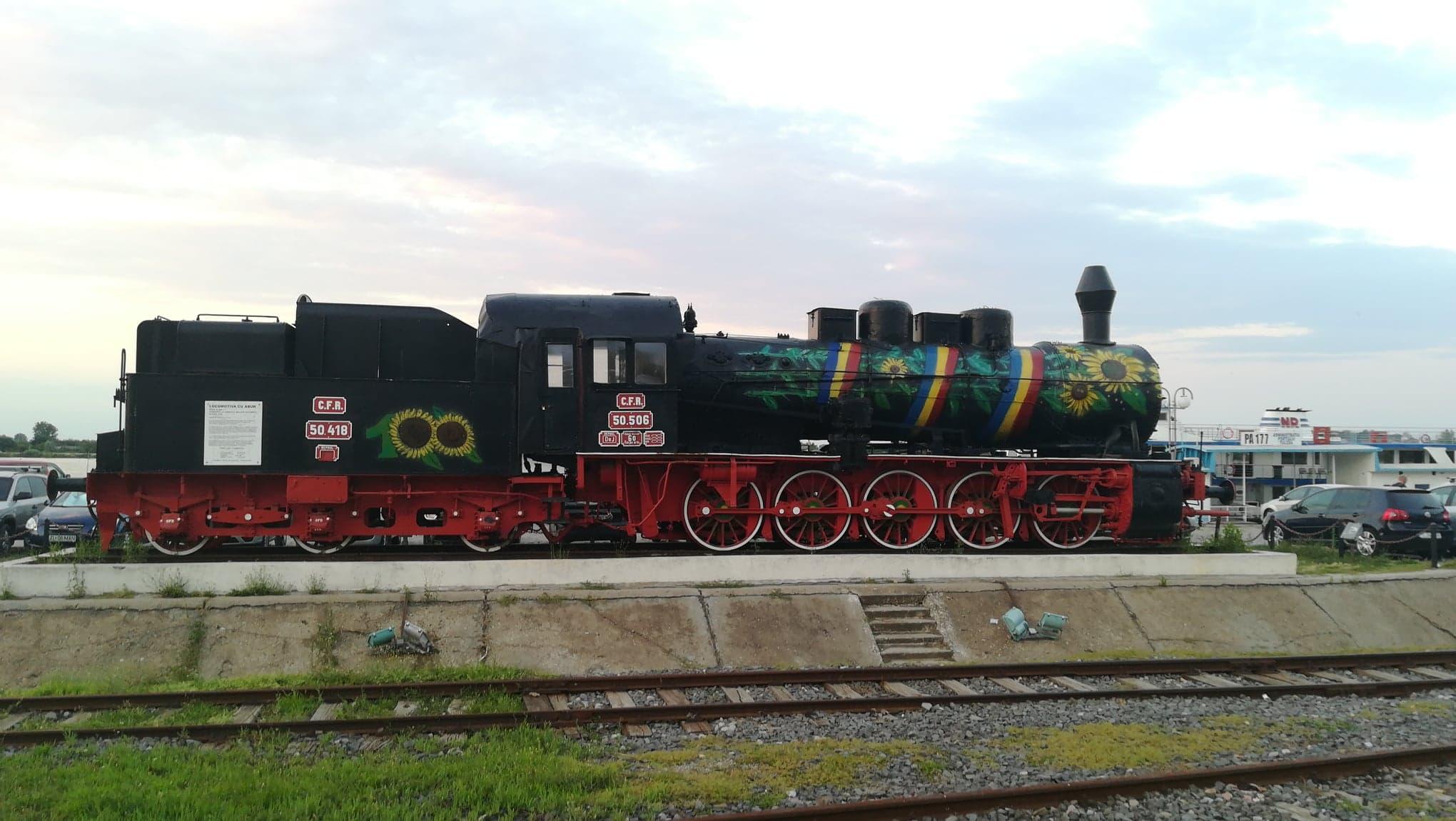 Locomotiva cu abur din municipiu, în culorile Centenarului Marii Uniri