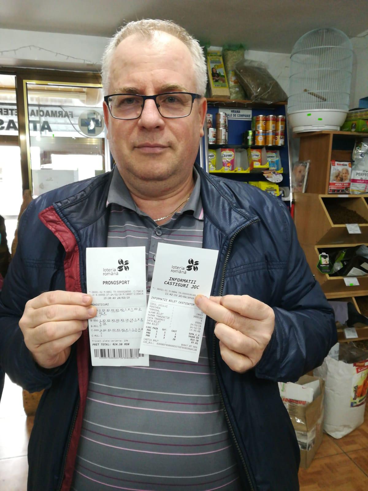 Tulceanul Marian Dragotă, câştig record la Pronosport: peste 84.000 de lei!