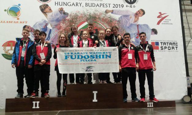 4 titluri de campioni europeni pentru Clubul Sportiv Fudoshin Tulcea la competiţia continentală de karate Wado-Kai de la Budapesta