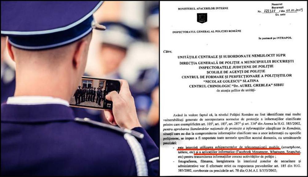 Poliţiştii au primit interzis la Whatsapp sau Facebook Messenger