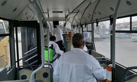 Societatea de Transport Public Tulcea a suplimentat numărul dezinfecţiilor autobuzelor