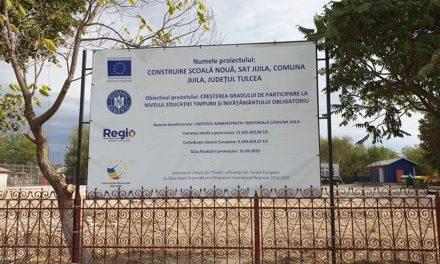 Cu bani europeni, prin ITI: la Jijila se construieşte o şcoală nouă