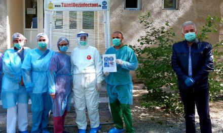 Tunel de decontaminare, donat Secţiei de Boli Infecţioase a Spitalului Judeţean Tulcea