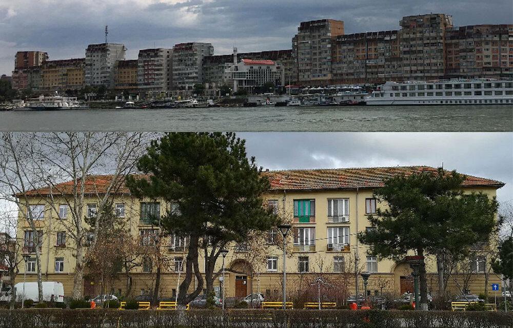 Anveloparea a 14 blocuri din municipiu, în linie dreaptă