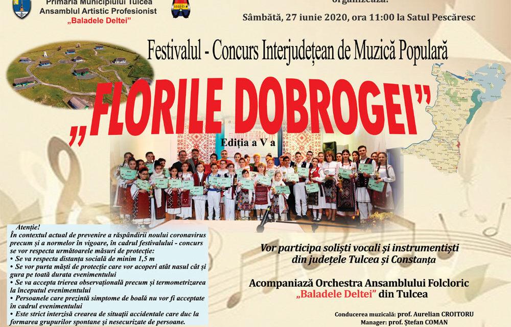 """Festivalul """"Florile Dobrogei"""", astăzi, la Satul Pescăresc"""