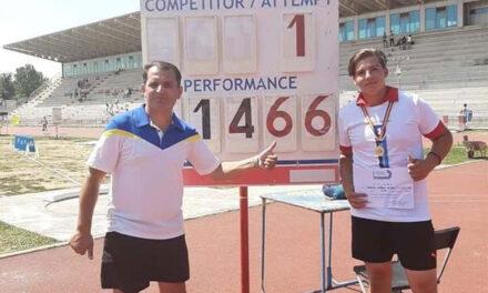 Antonio Axentiev, campion naţional al României la aruncarea greutăţii