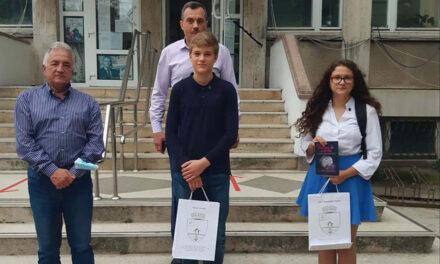 Olimpicii tulceni Iris Vavilov şi Felix Pascale, premiaţi de primarul Hogea