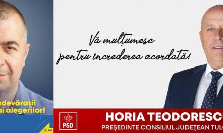 Ştefan Ilie a câştigat Primăria Tulcea, Horia Teodorescu rămâne la şefia Consiliului Judeţean