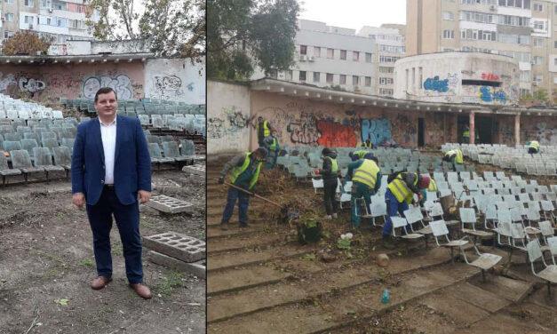 """Grădina de Vară """"Dacia"""", igienizată în proporţie de 80%: au fost colectate peste 11 tone de gunoi"""