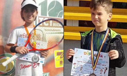 Teodora Plângu şi Eduard Platon, pe podium la Cupa Elite Tenis Pantelimon