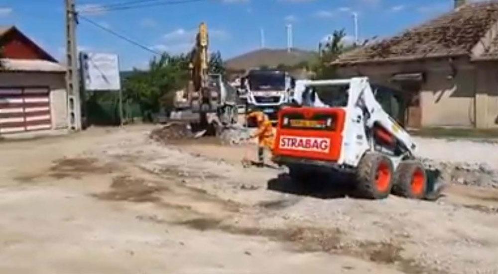 Greşeală de execuţie a constructorului la drumul Cerna – Traian