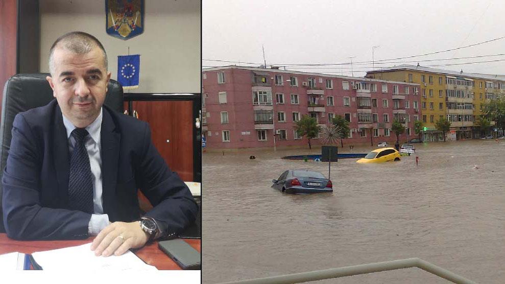"""Primarul Ştefan Ilie: """"Dacă ne dorim să avem străzi asfaltate, piste de biciclete şi iluminat public eficient, în primul rând trebuie să scăpăm de apele pluviale"""""""