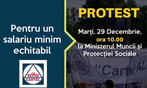 Sindicatele anunţă proteste, nemulţumite că salariul minim creşte cu doar 41 de lei