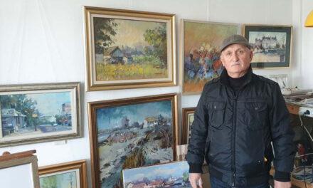 """Artistul Grigore Carată: """"Pictura îţi lipseşte dacă nu o practici zilnic, la fel ca hrana"""""""
