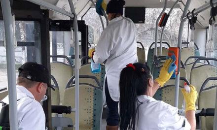 Cele 25 de autobuze ale STP Tulcea dezinfectate zilnic, după fiecare cursă