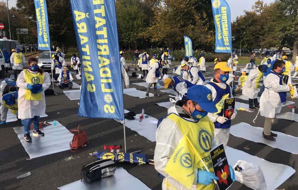 Sindicatul Solidaritatea Sanitară Tulcea solicită acordul primăriei pentru a protesta în Piaţa Civică