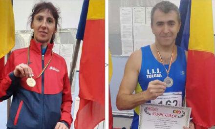 Nicoleta Ciortan şi Sorin Andrici au cucerit podiumul la Campionatul Naţional de Sală Masters