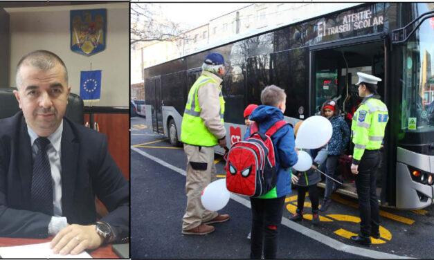"""Primarul Ştefan Ilie: """"Intenţionăm ca pe termen mediu să avem autobuze şcolare dedicate elevilor din municipiu"""""""
