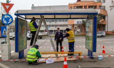 Primăria Tulcea a început reabilitarea staţiilor de autobuz