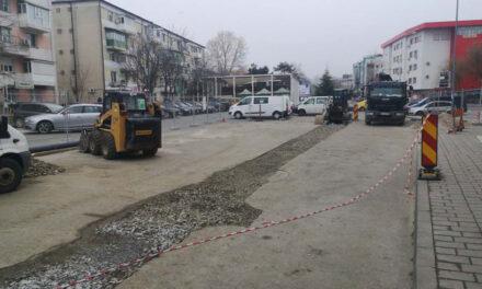 Proba de presiune a conductelor noi de pe strada 14 Noiembrie, programată astăzi