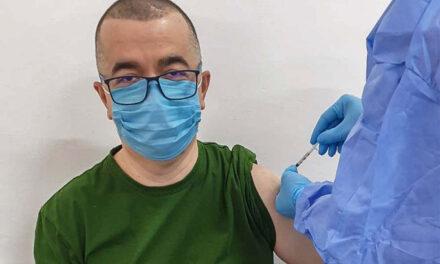 Primarul Ştefan Ilie s-a vaccinat cu AstraZeneca