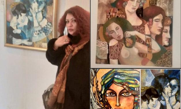 """Artista Bristena Arcuş: """"De fiecare dată când pictez mă încarc energetic"""""""