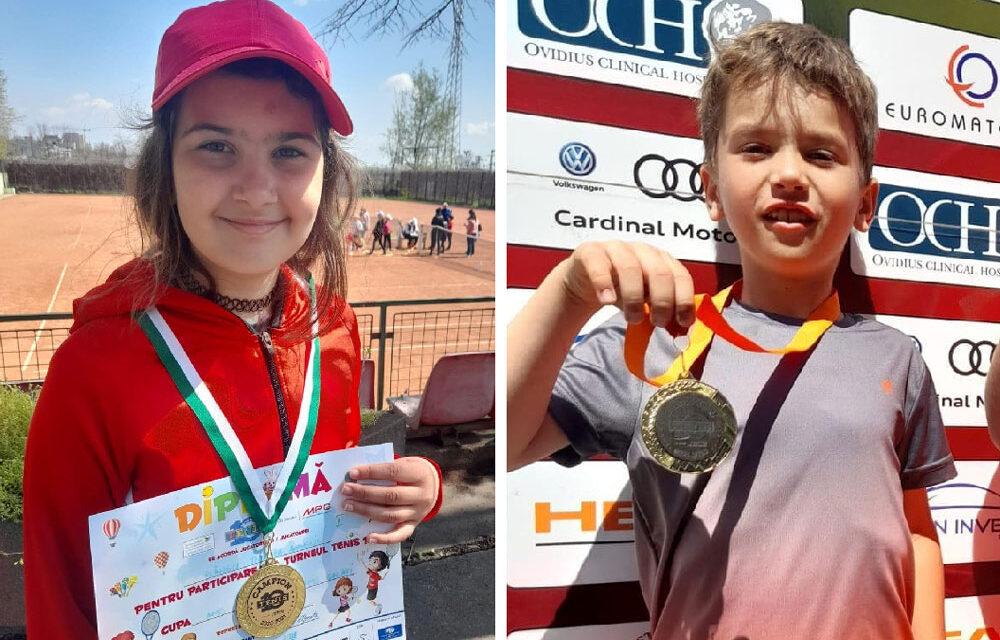 Teodora Plângu şi Eduard Platon, câştigătorii probelor de simplu ale turneului Tenis 10 de la Tenis Club Bright din Constanţa