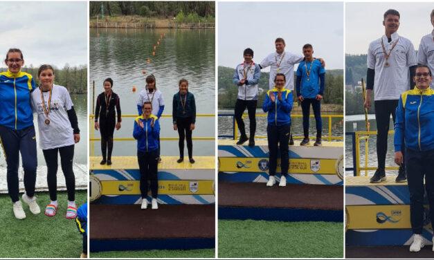 Canotorii de la CSM Danubiu Tulcea, 10 medalii la Campionatul Naţional de Primăvară Viteză şi Fond, de la Bascov