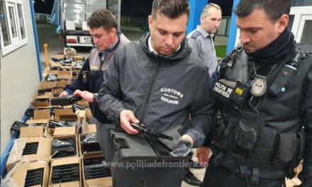 Captură record – 2.850 de pistoale cu glonţ, găsite într-un camion la PTF Isaccea