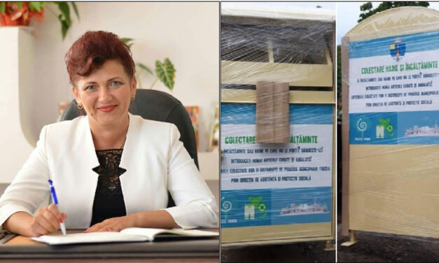 Containere pentru colectarea de haine şi încălţăminte pentru nevoiaşi, amplasate în municipiu