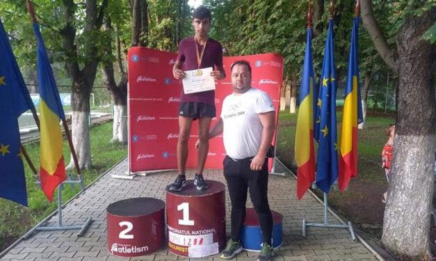 Costel Ştefănuţ Agache, două medalii de aur la Campionatul Naţional de Atletism Copii 1 şi 2