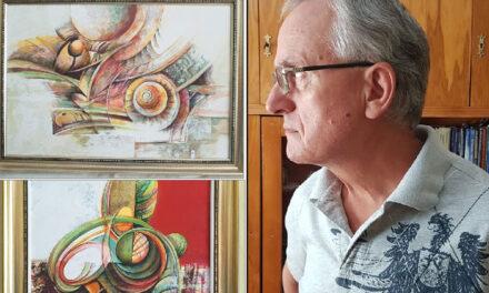 """Expoziţia personală a pictorului amator Mihai Davidov, vernisată la Biblioteca Judeţeană """"Panait Cerna"""""""