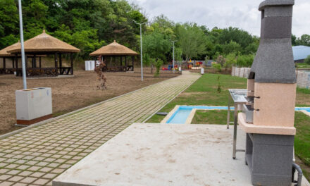 Liber la grătare în zona de picnic a lacului Ciuperca