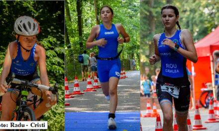 Triatloniştii de la Aqua Vita Delta Tulcea, pe podium la Campionatul Naţional de Triatlon Supersprint