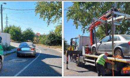 Atenţie, şoferi: Maşinile parcate neregulamentar în municipiu sunt ridicate cu platforma!