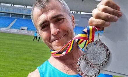 Jandarmul Sorin Andrici, două medalii de argint la Campionatul de Atletism şi Cros al Ministerului Afacerilor Interne