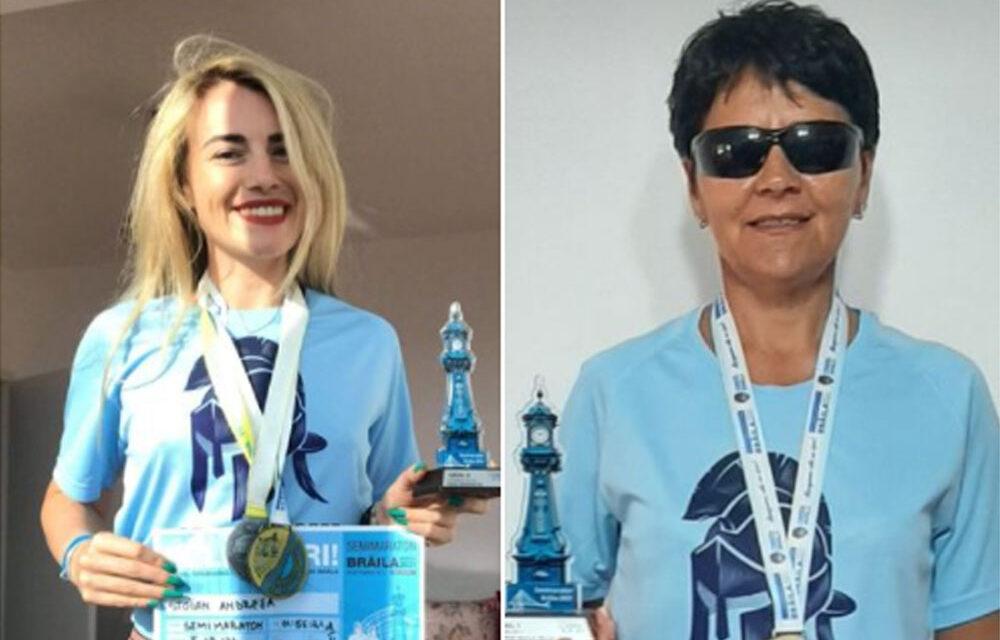 Maratonistele Andreea Stoian şi Florica Perianu, medaliate la Brăila